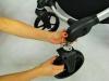 Baby Jogger city select double ściąganie przednich kół