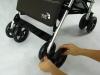 Baby Jogger Vue koła ustawione do jazdy na wprost