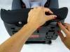 Cybex solution M-FIX ściąganie tapicerki